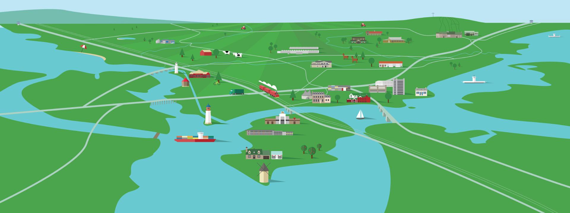 map de Vaudreuil-Soulanges